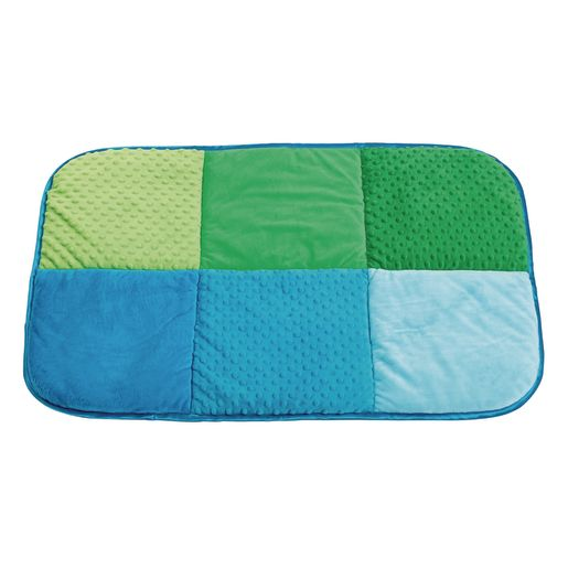 Image of Environments Pattern Play Quilted Mat Blue/Green