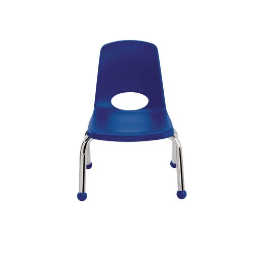 """""""10"""""""" Stack Chairs with Chrome Legs - Navy"""""""