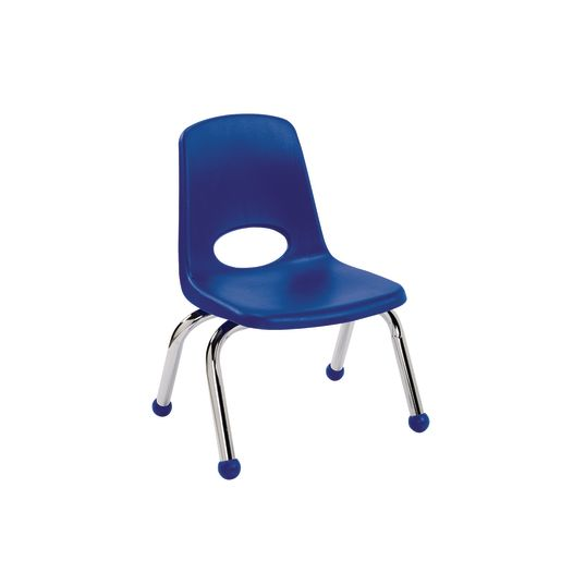 """10"""" Stack Chairs with Chrome Legs - Navy"""