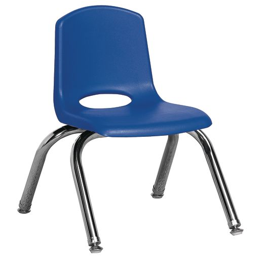 """18"""" Stack Chairs with Chrome Legs - Navy"""