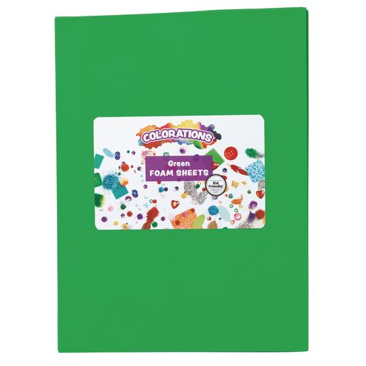 Green Foam Sheets - 10 Pieces