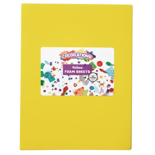 Image of Yellow Single Color Foam Sheets - 10 Pieces