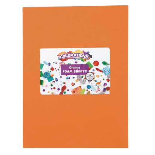 Orange Foam Sheets - 10 Pieces