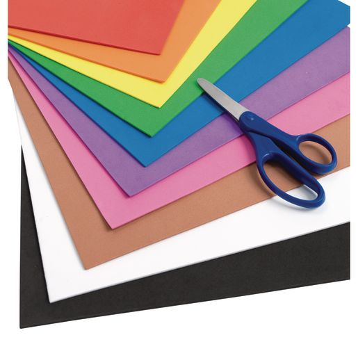 "Colorations® Foam Sheets, 9"" x 12"" - Set of All 10"