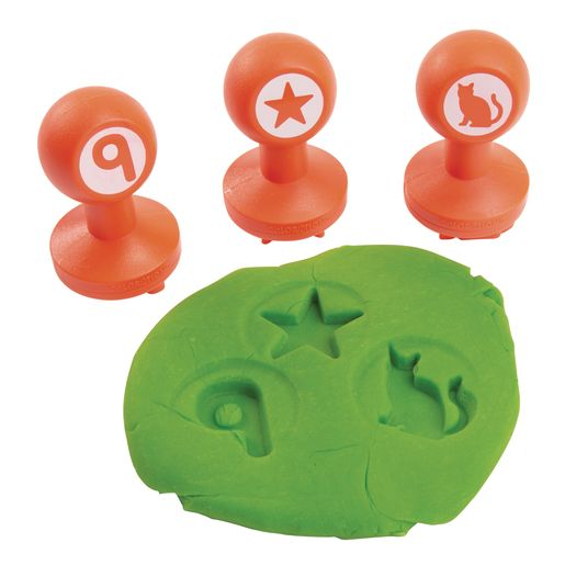 Colorations® Shapes & Numbers Dough Stampers Set of 26