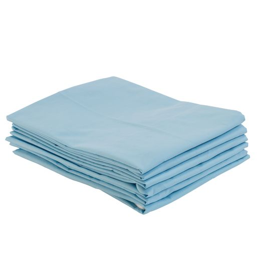 Image of Fitted Standard Cot Sheets - Blue, Set of 6