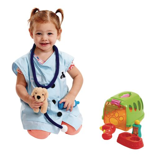 Pretend Vet with Puppy and Carrier - 6 Pieces