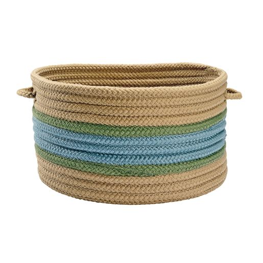"17""Dia. Braided Handle Basket"