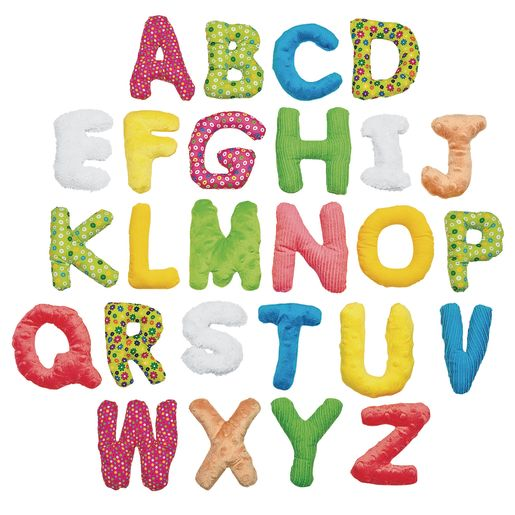 Image of Environments 5 Jumbo Premium Soft Sensory Alphabet Letters with Basket for Toddlers