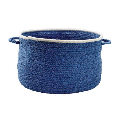 Chenille Handle Basket - Blue