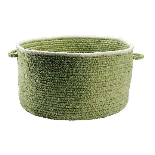 Chenille Handle Baskets - Celery Green