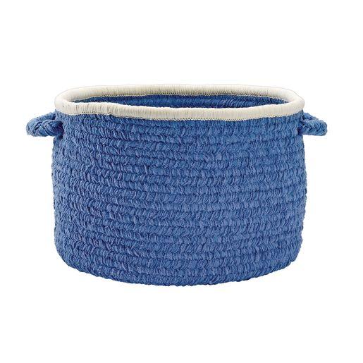 Chenille Handle Baskets - Blue