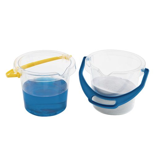 Clear Bucket with Spout - Set of 2