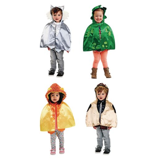 Image of Environments Toddler Animal Capes with Hoods Set of 4