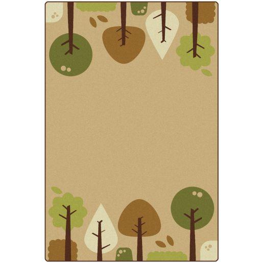 Tranquil Trees Tan 6' x 9' Rectangle KIDSoft Premium Carpet