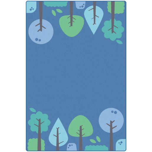 Tranquil Trees Blue Carpet - 6' x 9'