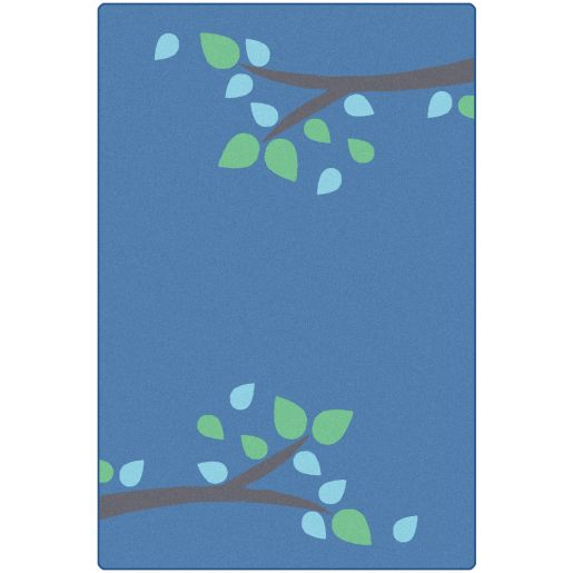 Image of Branching Out Carpet - Blue 4' x 6'