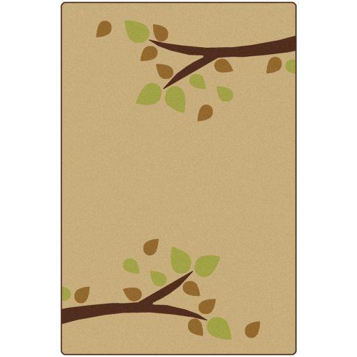 Image of Branching Out Carpet - Tan 4' x 6'