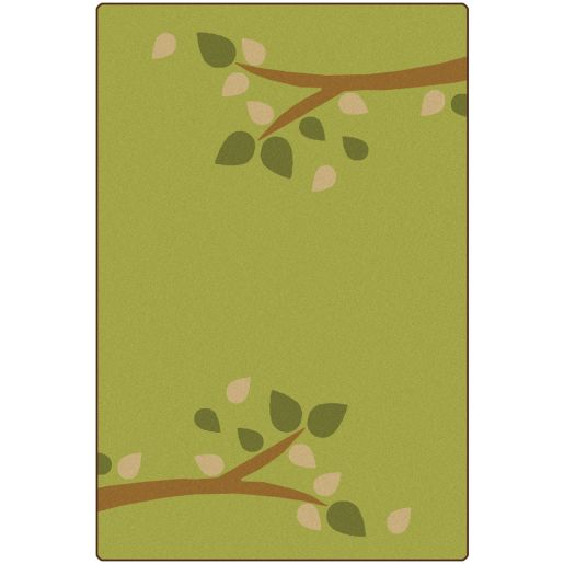 Branching Out Green 6' x 9' Rectangle KIDSoft Premium Carpet