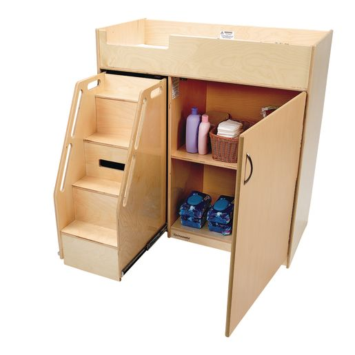 Image of Environments Toddler Changing Table with Stairs - Assembled