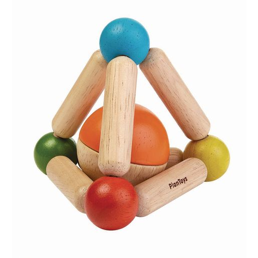 Image of Infant Triangle Wood Clutching Toy