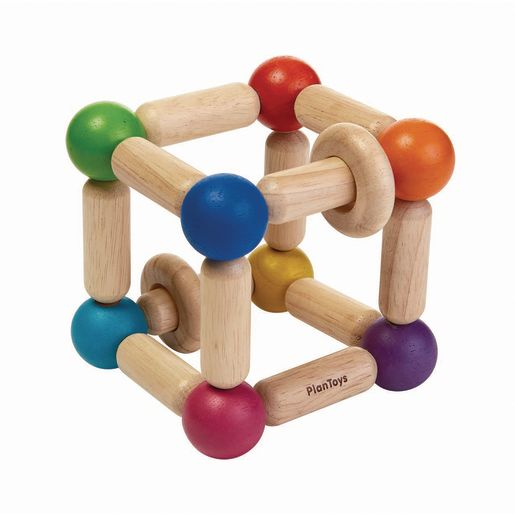 Image of Infant Square Wood Clutching Toy