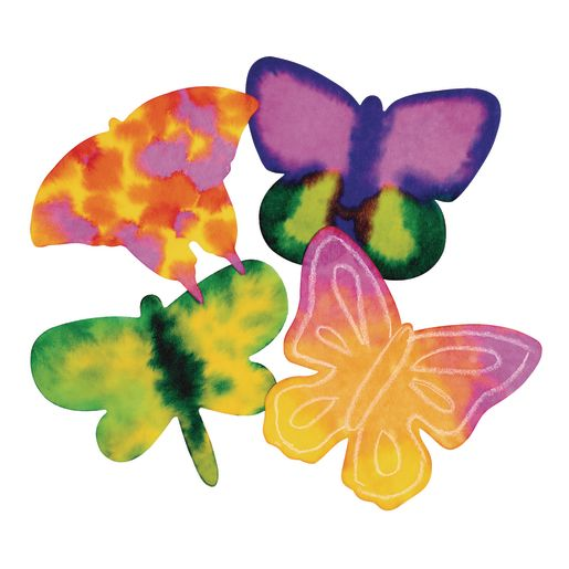 Image of Liquid Watercolor Diffusing Paper Butterfly Shapes - Set of 48