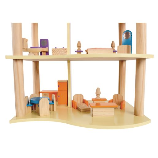 Environments® Modern Wooden Doll House 26 Pieces