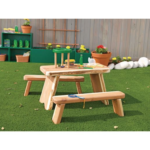 "Outdoor Table and Benches Set 24""H Table"
