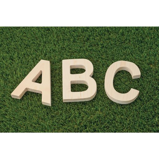"5"" Jumbo Solid Wood Alphabet Letters"