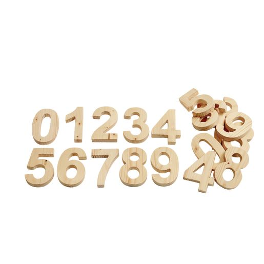 Solid Wood Numbers 0-9 2 Sets