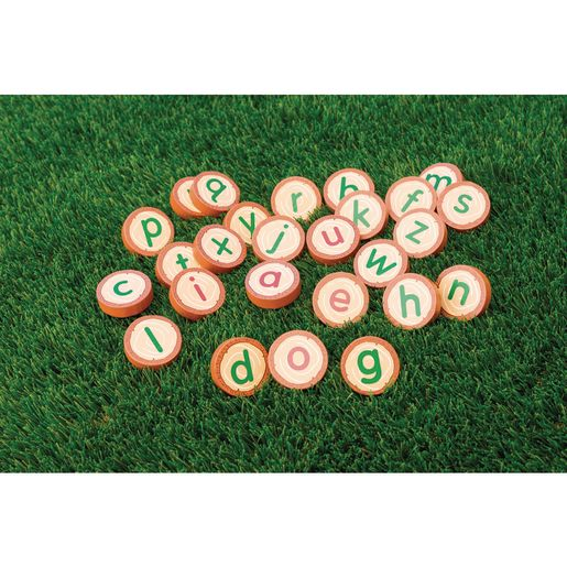 Image of Excellerations Wooden Lowercase Alphabet Rounds 26