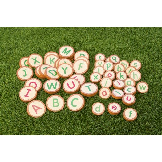 Excellerations® Wooden Upper-  and Lower- Case Alphabet Rounds 52