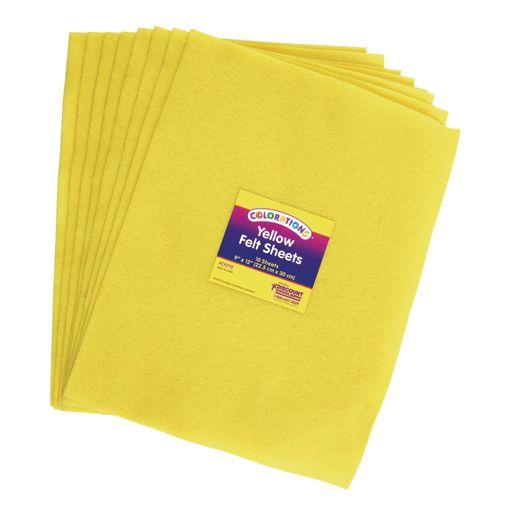 Yellow Colorations® Single Color Felt Sheets 10 Pieces