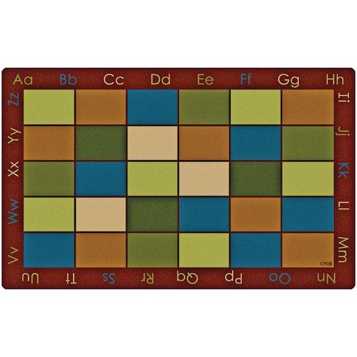 "Nature's Colors Seating 8'4"" x 13'4"" Rectangle Premium Carpet"