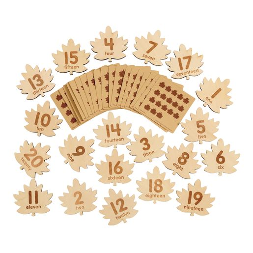 Excellerations® Wooden Number Leaves