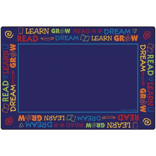Read to Dream Border Rug - 4' x 6' Rectangle