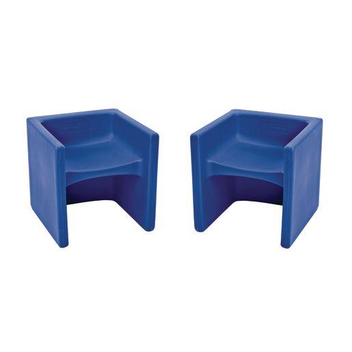 Cube Chair 2 Pack - Blue