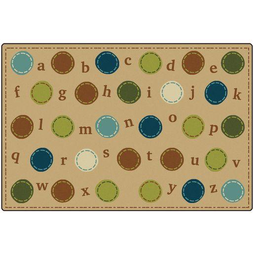 Alphabet Dots 6' x 9' Rectangle KIDSoft Premium Carpet