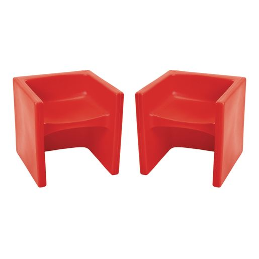 Cube Chair 2 Pack - Red