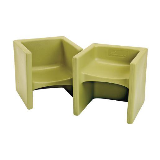 Cube Chair 2 Pack - Fern