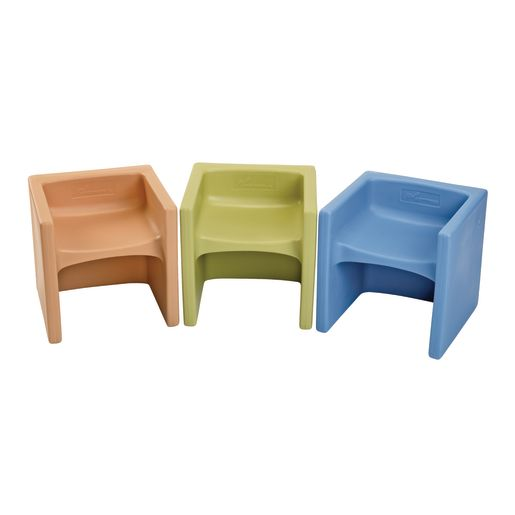 Cube Chairs 3 Pack - Sandy Colors Set