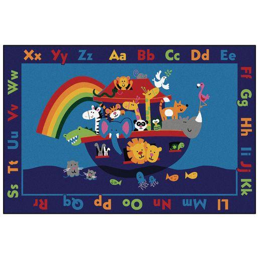Noah's Alphabet Animals 8' x 12' Rectangle Kids Value PLUS Carpet