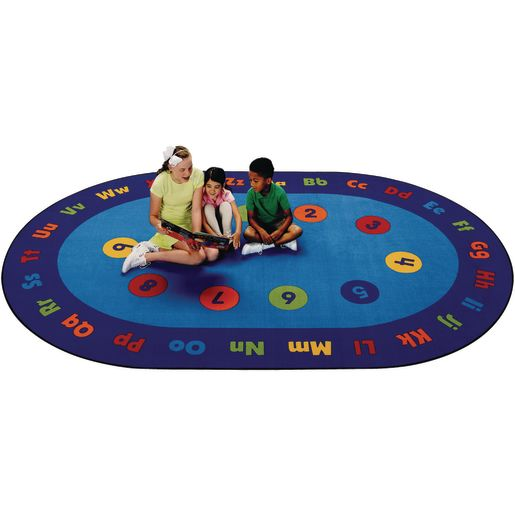 Circletime Early Learning 8' x 12' Oval Kids Value PLUS Carpet