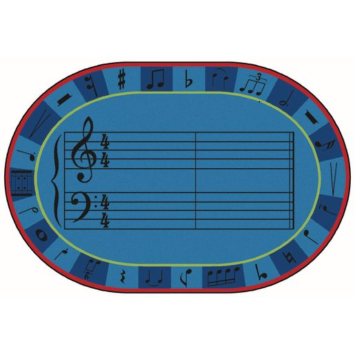 A-Sharp Music 8' x 12' Oval Kids Value PLUS Carpet