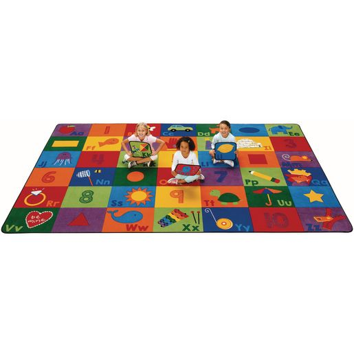 "Sequential Seating Literacy Rug - 8'4"" x 13'4"" Rectangle"