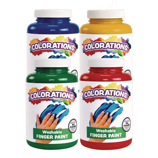 Image of Colorations Washable Finger Paint -16 oz. 4-Pack