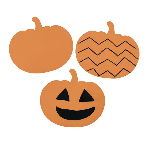 Image of Colorations Scratch Designs Pumpkins Set of 36