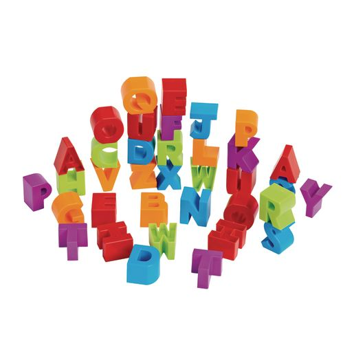 Image of Stacking Alphabet Letter Blocks and Dough Cutters - Uppercase, 36 Pieces