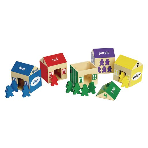 Image of Environments earlySTEM Colors & Counting Houses 20 Pieces